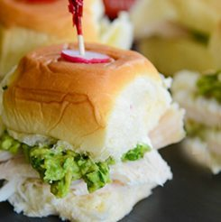 Hawaiian Turkey Avocado Mini Sandwich
