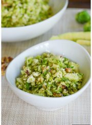 Brussels Sprouts and Apple Salad with Blue Cheese is a crisp healthy clean salad, that is loaded with texture and flavor| ahealthylifeforme.com
