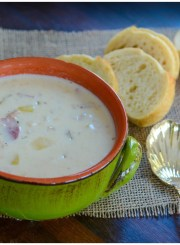 Healthier Clam Chowder Recipe | ahealthylifeforme.com