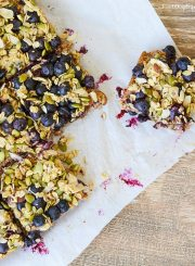 Superfood Breakfast Bars Recipe | ahealthylifeforme.com