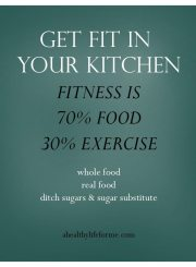Fitness is made in your kitchen | ahealthylifeforme.com