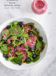 Blueberry Bacon Spinach Salad Recipe is paleo gluten free dairy free healthy and delicious | ahealthylifeforme.com