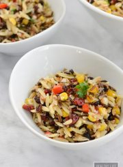 Wild Rice Orzo Cranberry Salad Recipe | ahealthylifeforme.com
