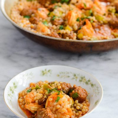 Spicy Shrimp Chorizo Stew