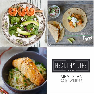 Weekly Meal Plan Week 19