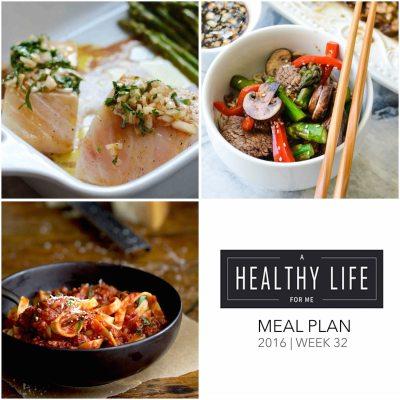 Weekly Meal Plan Week 32