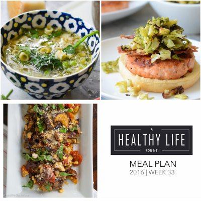 Weekly Meal Plan Week 33