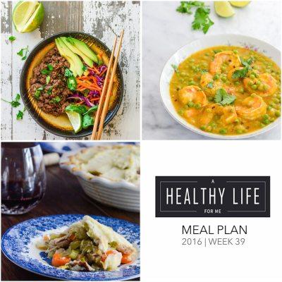 Weekly Meal Plan Week 39