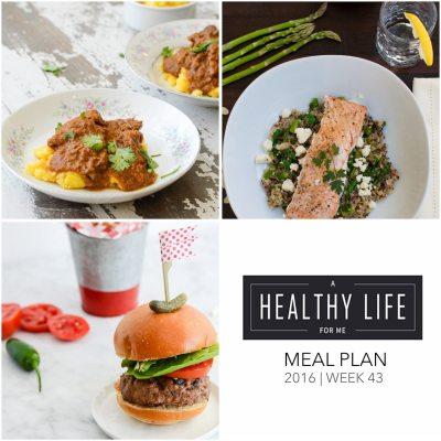 Weekly Meal Plan Week 43