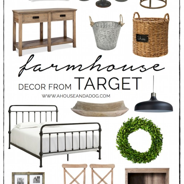 Farmhouse Decor at Target - shop farmhouse favorites!