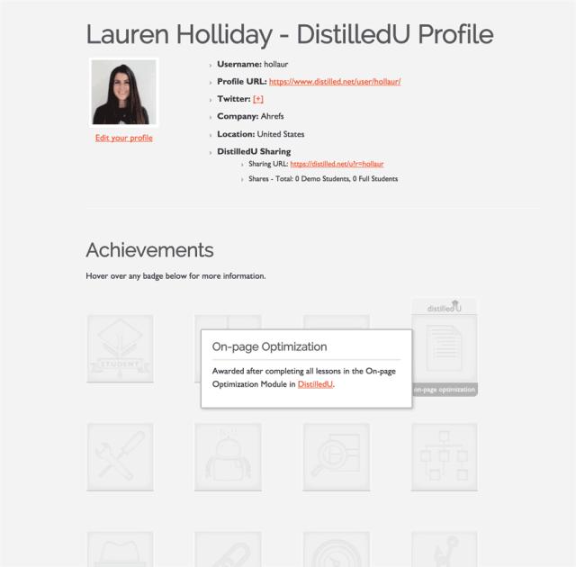 DistilledU Profile