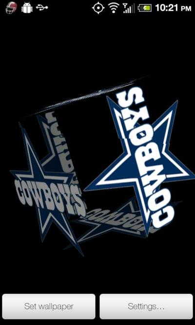 Cowboys Live Wallpaper PRO - Android Informer. Dallas Cowboys 3D rotating cube Live Wallpaper ...