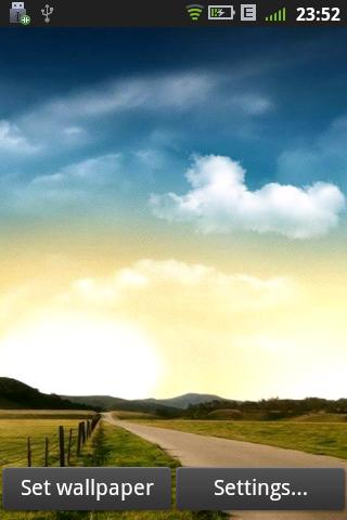 Real Weather LiveWallpaper - Android Informer. Sunny, rain, snow, three kinds of dynamic ...