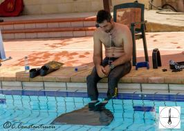 Kyriakos Lefkonitisatis ready for his dive