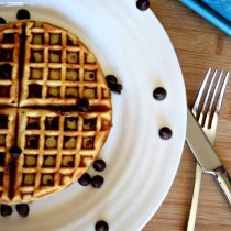 Chocolate Chip Blender Waffles are the perfect brunch recipe. They are easy to make and freezer friendly. Vegetarian. http://aileencooks.com