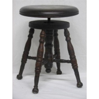 piano stool with claw feet
