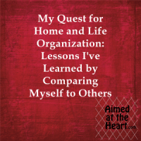 Organization: Lessons I've Learned by Comparing Myself to Others