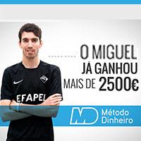 O Miguel já ganhou mais de 2500€ com o Método Dinheiro