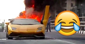 Manel Basófias Tenta Brilhar mas Pega Fogo ao seu Lamborghini