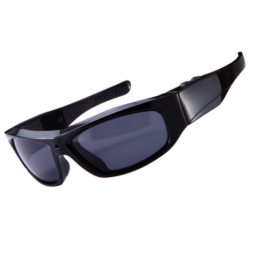 Good looking camera sunglasses - stylish appearance - Forestfish Sunglasses with Camera HD 720P Video Recorder Swith 8GB SD Card Sports Polarized