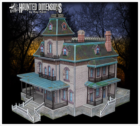 phantom manor papercraft Was für die echten Disneyland Nerds