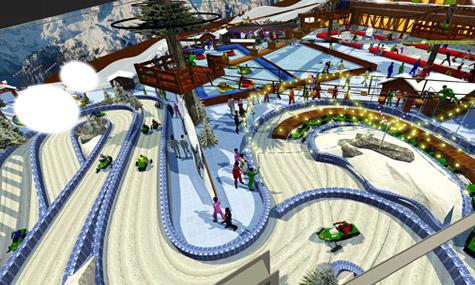 snow village jeddah arabia 02 Snow Village   Der winterlicher Freizeitpark Spaß im Emirat Jeddah