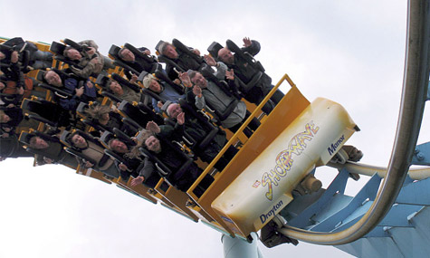 drayton manor shockwave Coaster Fans Extrem   Der 1613 Achterbahn Count Mann