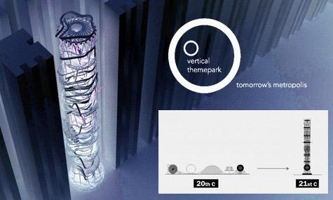 vertikaler freizeitpark 02 New Yorker Architekt plant einen Freizeitpark mitten in Manhatten