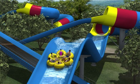 Mammoth Watercoaster Holiday World 2012 01 Mammoth   Eine Rekord brechende Wasser Achterbahn der Superlative