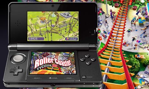 Rollercoaster Tycoon 3DS Nintendo 01 RollerCoaster Tycoon 3D   Eine Achterbahn in der Hosentasche