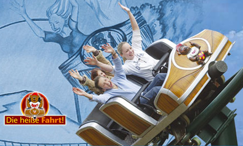 Freizeitpark Klotten heisse fahrt Der Freizeitpark Klotten eröffnet 2012 die steilste Wildwasserbahn Europas