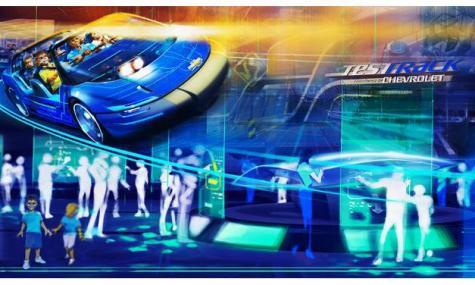 Epcot Test Track Disney Concept Art 1 Test Track   Neues Konzept, neues Erlebnis!