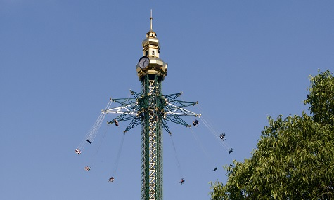 Praterturm Skyscreamer in Six Flags over Texas   Worlds tallest Swing Carousel Ride