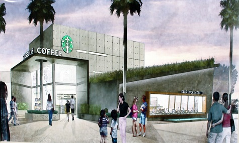 Starbucks West Side Disney Springs Doppelt hält besser   Starbucks zieht in Downtown Disney ein