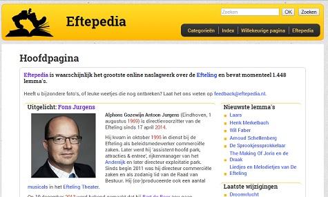 eftepedia screenshot Geballtes Efteling Wissen   Im Gespräch mit dem Begründer der Eftepedia