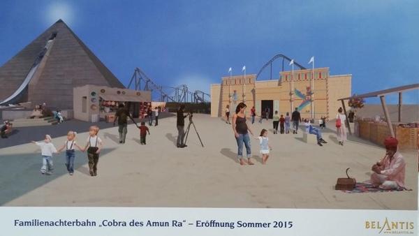 Die Cobra des Amun Ra schlängelt sich ab Sommer 2015 durch Belantis