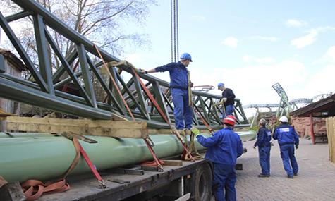 Der First Drop von Kärnan steht: Das erste Bild aus dem Hansa Park