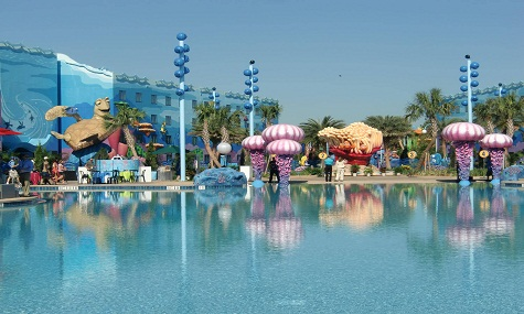 The big blue Pool Art of Animation Plantschen mit Mickey Mouse – die besten Pools der Walt Disney World Resort Hotels