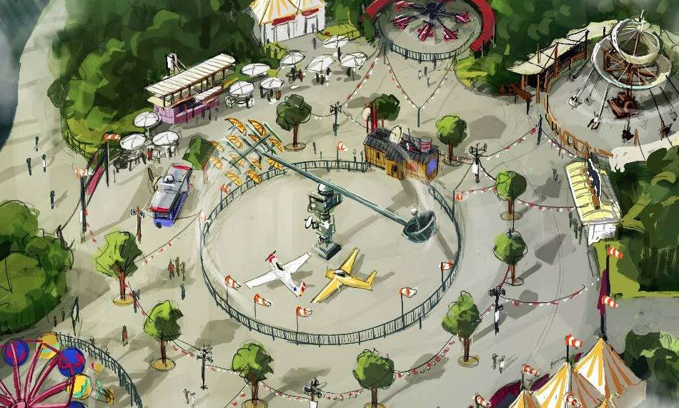 Aufbau des Sky Fly im Holiday Park fast vollendet
