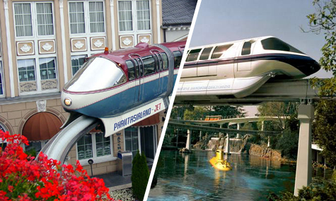 phantasialandjet vs. monorail Disneyland Resort Brühl   Wie Disney das Phantasialand inspiriert
