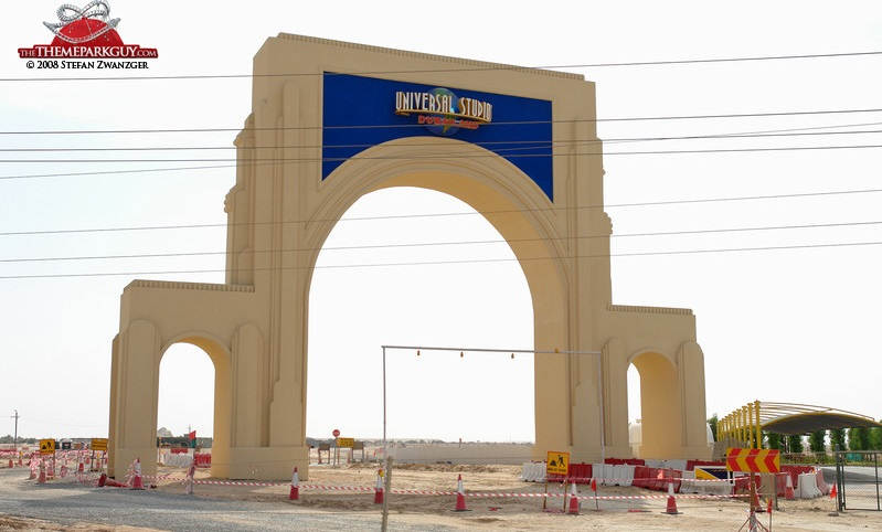 Dubai universal studios dubailand gate1 big Baustelle Wüste – Was gibt es Neues aus Dubai?