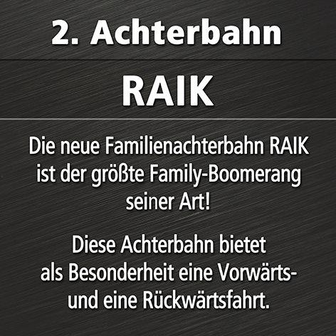 taron raik phantasialand zweite achterbahn 2 RAIK   Klugheims zweite Achterbahn