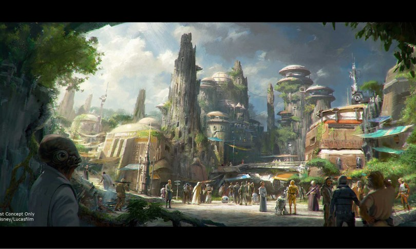 Star Wars Land Concept Art Disneys Antwort auf die Wizarding World of Harry Potter: Star Wars