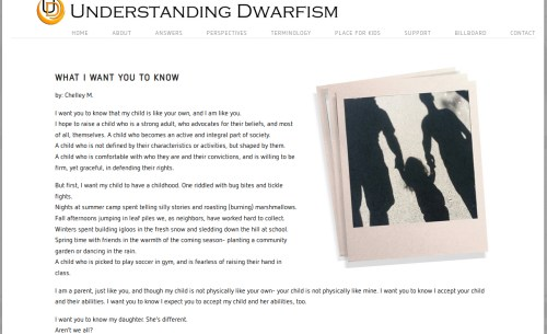 From the Understanding Dwarfism website