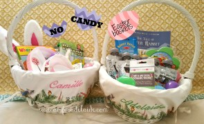 Check these #nocandy #EasterBasket ideas! #aisforadelaide