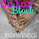 Color Block Manicure + #TargetYourEssence makeup tutorial