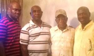 From left, Garfield Rowe, Colonel Ferron Williams, Mr. Rowe & Maxie
