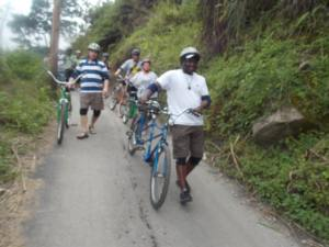 Blue Mountain Bicycle Tour with cyclists