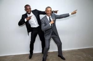 Usain Bolt & Pres Obam