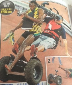 Usain Bolt Defeated by Two Wheel Scooter